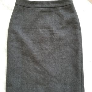 J. Crew Gray Wool Pencil Skirt